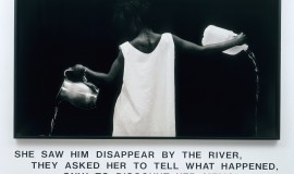 Waterbearer, 1986 by  Lorna Simpson http://lsimpsonstudio.com/photographicworks02.html